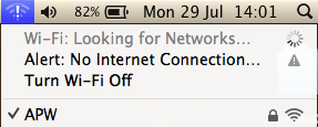 mac wifi no net