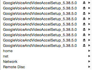 many mounted GoogleVoiceAndVideoAccelSetup files